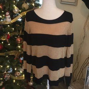 Vince Camuto Black And Gold sparkle sweater